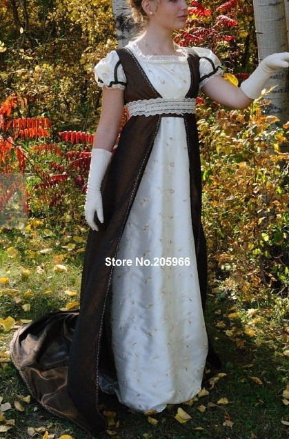 9322ebe570 US $218.0  CUSTOM Made Empress Josephine Regency Empire Wedding Ball gown  dress & pelisse Ball Gown-in Dresses from Women's Clothing on  Aliexpress.com ...