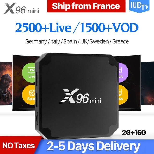 X96 mini IPTV Spain Box Android 7.1 2GB 16GB S905W 4K WiFi X96mini 1 Year IUDTV Code IPTV Arabic Sweden Italy UK Spanish IPTV