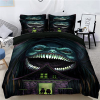 Halloween Skeleton Luxury Photo 3D Bedding set DoubleTwin Queen King size Bedsheet set Duvet cover Pillowcases California king