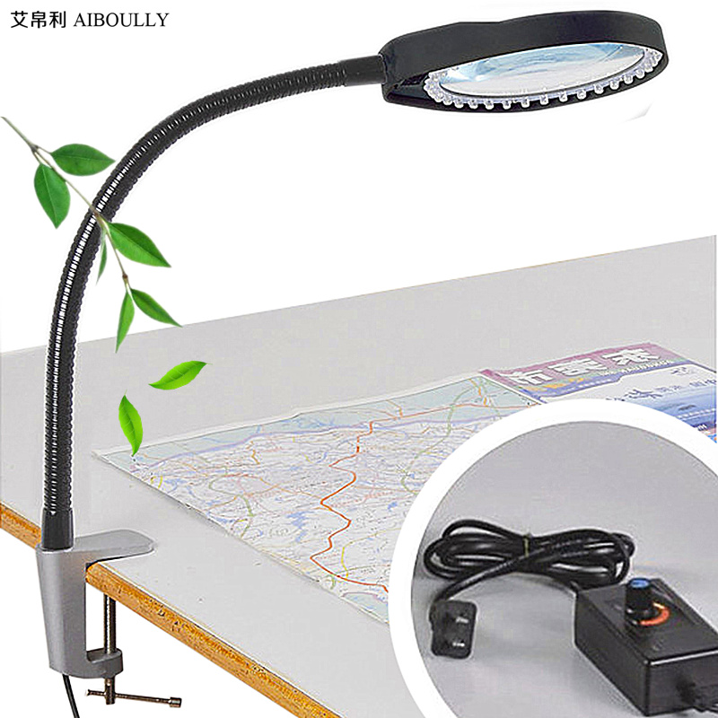 AIBOULLY Caliper Magnifier Adjustable Brightness LED Light to Enlarge 10 Times the Electronic Maintenance Jewelry Identification jhopt 40 times with light microscope magnifier identification of chinese cigarettes coins print outlets antiques appraisal