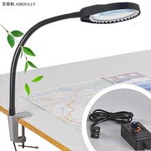 Aiboully суппорт Лупа Регулируемая яркость свет, чтобы увеличить 10 раз электронный обслуживания идентификации ювелирных изделий