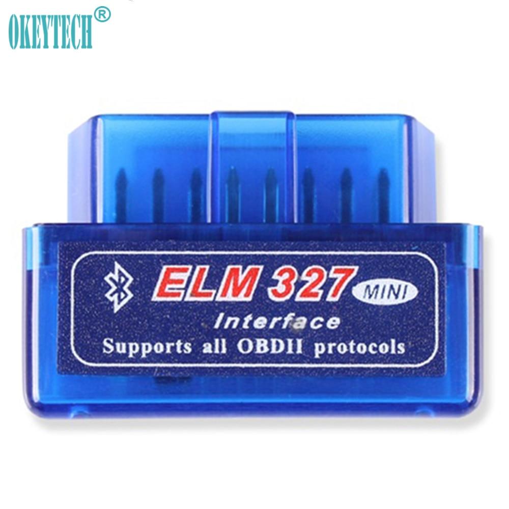 OkeyTech Best Super Mini Elm327 Bluetooth OBD2 V1.5 V2.1 OBD II Car Diagnostic-Tool Scanner Adapter Auto Code Reader For Android