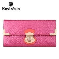 2016 New Designer Brand Women Wallets Genuine Leather Purse Long Clutch Wallet