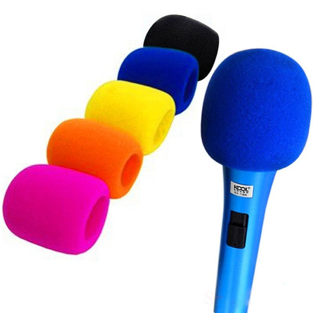 5pc Wireless Handheld Stage Microphone Windscreen Foam Mic Cover Karaoke DJ Sponge Filter Wind Shield Hot Sale 5 C