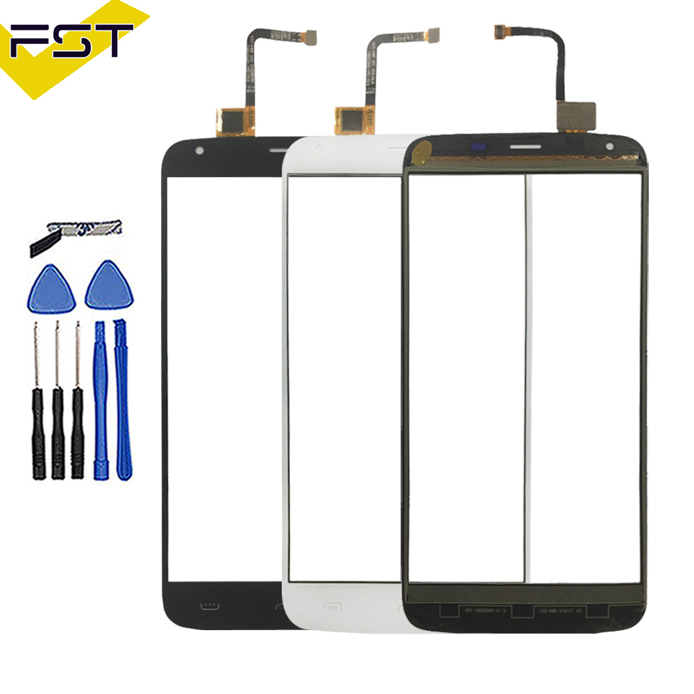 5.T''Black/White Touch Panel For <font><b>Homtom</b></font> <font><b>HT6</b></font> Touch <font><b>Screen</b></font> Digitizer Sensor Front Outer Glass Lens No LCD+ Tools and Adhesive image