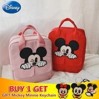 2019 Disney Children's Mickey Mouse Parent Child Travel Children Girls Boys Backpacks Nylon Cute Cartoon Bags Plush Backpack