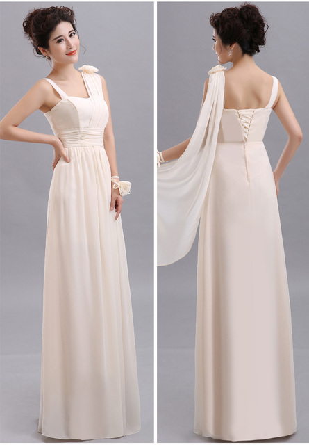 Cheap Long Chiffon Blush Pink Bridesmaid Dresses