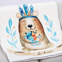115X155 см плотное мягкое флисовое утяжеленное детское одеяло с изображением животных из мультфильмов, ручная роспись, одеяло для новорожденных, покрывало для малышей, детское постельное белье