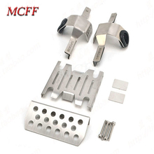 Metal Front Middle Chassis Armor Skid Plate Guards Upgrade Part for 1/8 RC Model Car TRACTION HOBBY KM2 TH2 Parts fatjay dhk hobby dhk8384 metal upgrade accessories op parts front suspension plate support bracket for rc cars