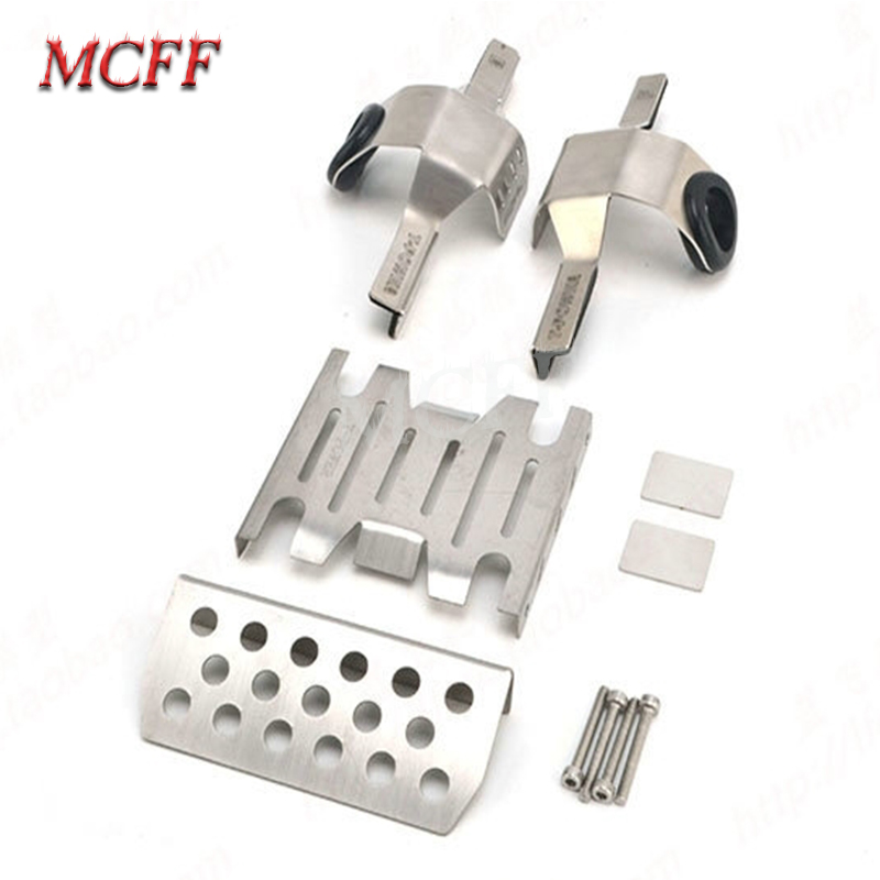 Metal Front Middle Chassis Armor Skid Plate Guards Upgrade Part for 1/8 RC Model Car TRACTION HOBBY KM2 TH2 Parts