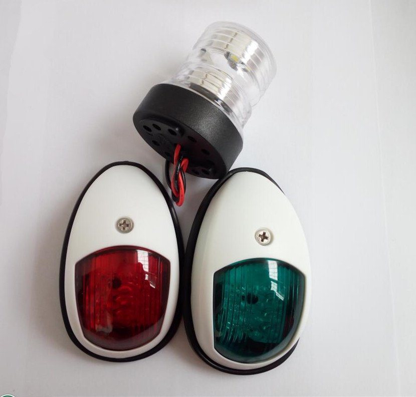 Marine Boat Yacht 12V LED white Bow Navigation Light And 360 Degree Light One Set