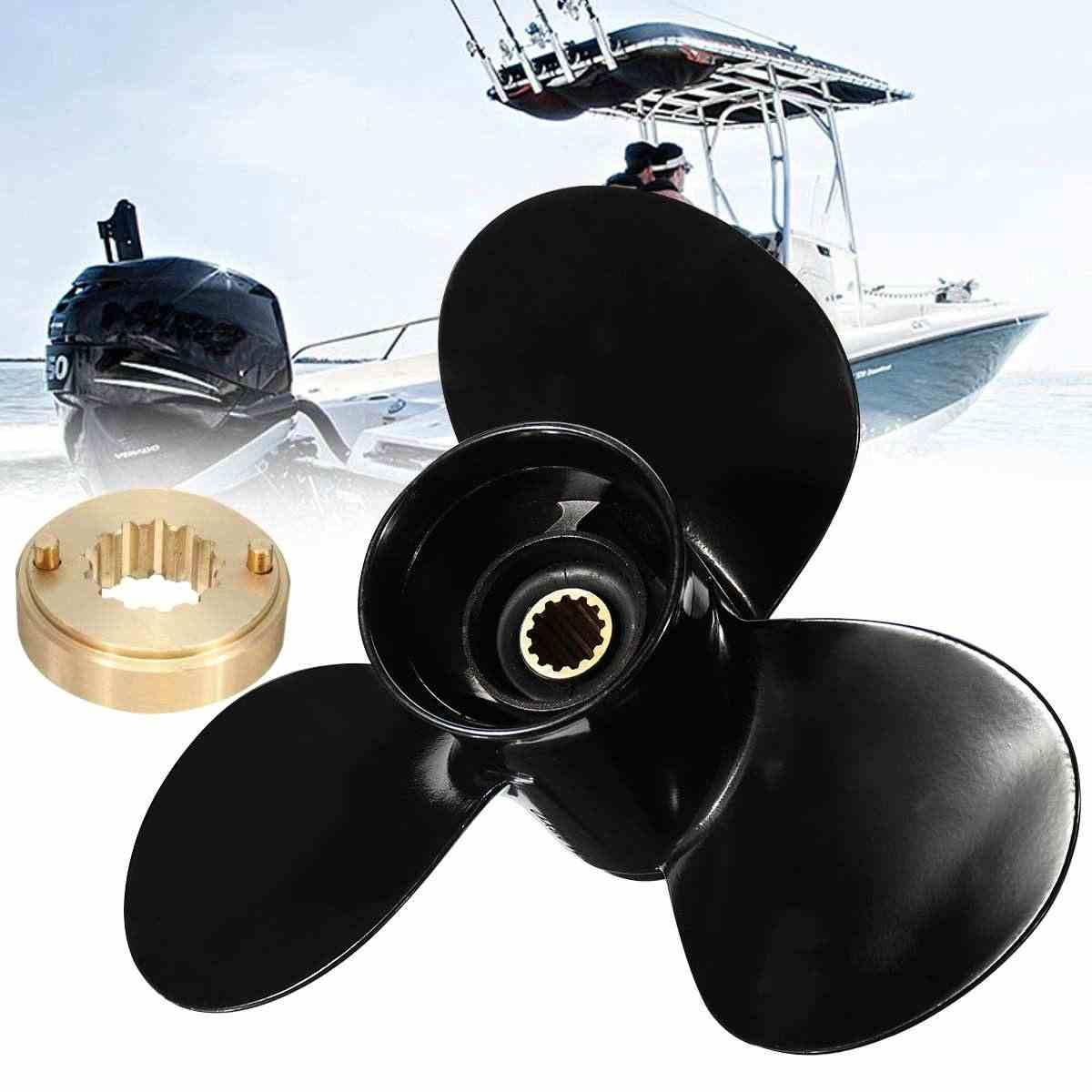 10 1/4x10 K Boat Engine Aluminum Alloy Propeller for Suzuki Johnson