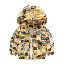 spring autumn cute baby boy coat cartoon pattern kids jackets fashion coat for boys rainy outdoor