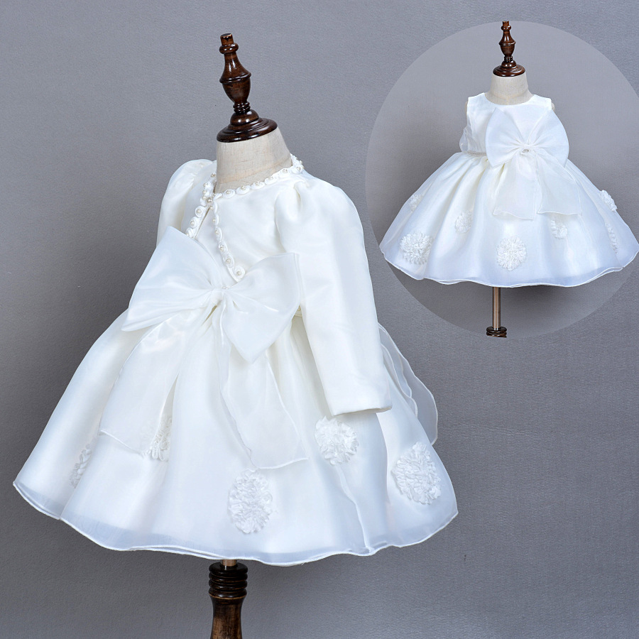 8bfd2c1fd89e6 Baby Girls Elegant Communion Dresses with Hat Lace Baby Girls ...