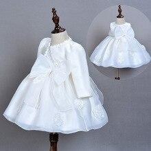 Baby Dress + Cape + Hairband 3pcs for Toddler Princess Baptism White Dresses Infant Christening Dresses for Wedding Party 0-2T