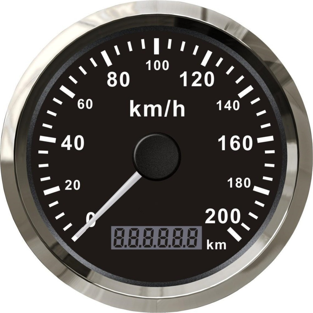 100% Brand New GPS Speedometers Modification 85mm Speed Chart Motormeter 0 200km/h Speed Gauge with GPS Antenna Black