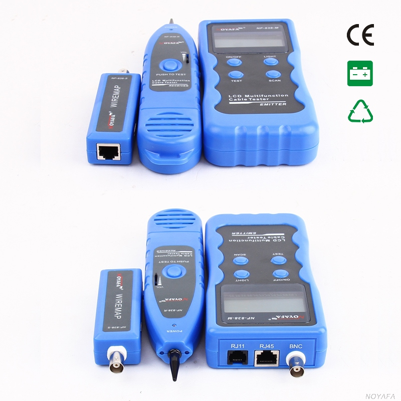 New NF-838Blue  RJ45 BNC USB 1394 RJ11 Telephone Wire Tracker Line Finder Short circuit line cable Network Cable Finder bnc м клемма каркам