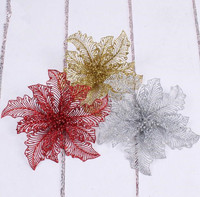 This Christmas Flower Looks Different Wholesale Export Big Christmas Flowers 25CM Christmas Decoration For Festival