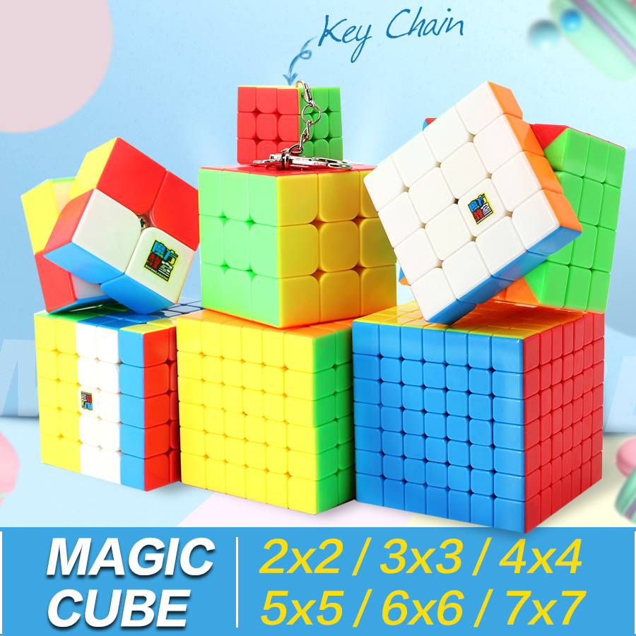 Magic Speed Cube 3x3x3 2x2x2 4x4x4 5x5x5 6x6x6 7x7x7 Cubo Magico 2x2 3x3 4x4 5x5 6x6 7x7 Puzzle Cube Meilong Toy Kid Gifts