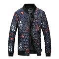 2016 nuevo estilo de Los Hombres de invierno de ocio de moda de impresión de Los Hombres chaqueta gruesa de algodón acolchado hombre con chaqueta gruesa de Los Hombres de grueso Parkas