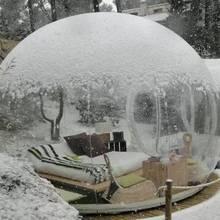Открытый кемпинг прозрачный пузырь палатка дешевые ясный газон надувной купол палатка надувная комната пузыря, свадебные палатки для продажи