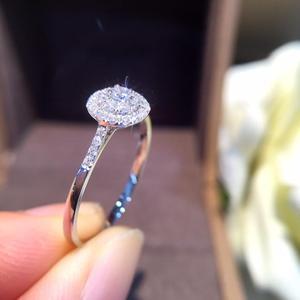 Image 2 - 天然ダイヤモンドリング 18 18k 純金結婚式本物の 750 固体クラシックトレンディ女性ホット販売プレゼントドロップ配送パーティー 2020 新