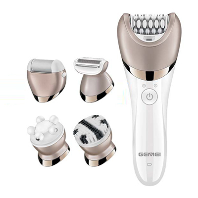 5in1 washable women epilator electric female remover callus lady shaver foot bikini trimmer depilatory facial hair removal kit