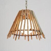 Wisiorek światła osobowość amerykańska japoński koreański barze bamboo azji południowo wschodniej sztuki chiński bambusowy Chande LU718112 w Wiszące lampki od Lampy i oświetlenie na