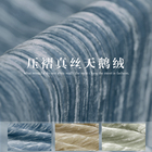 Solid color heavy silk fabric Pleated silk velvet fabric Silk Folded fabric Thickened Velvet fabric wholesale silk cloth