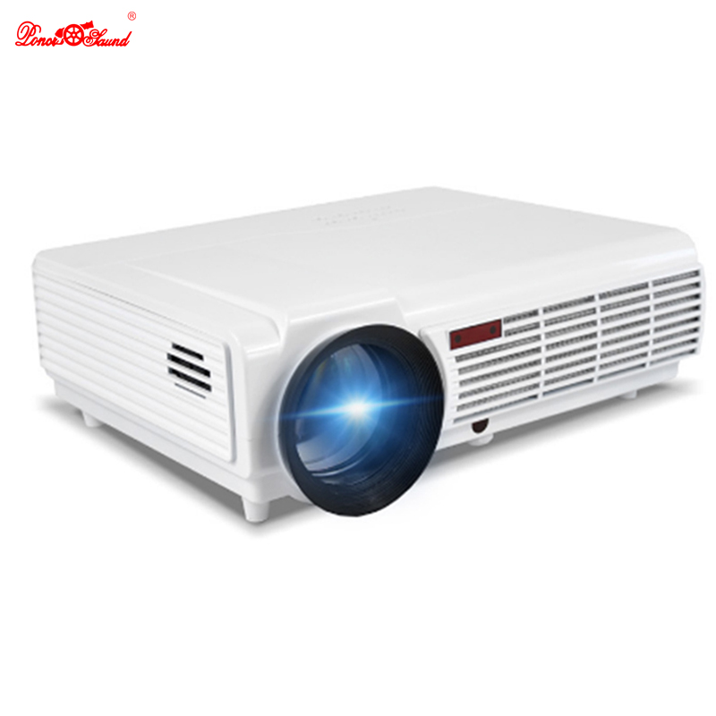 Poner Saund Full Hd New Mini Projector Proyector Led Lcd: Poner Saund 5500 Lumens Wifi Smart Android Projector Tv