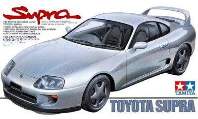 Сборная модель автомобиля в масштабе 1/24, строительные комплекты, спортивный автомобиль, Toyota Supra, модель автомобиля, набор «сделай сам» Tamiya ...