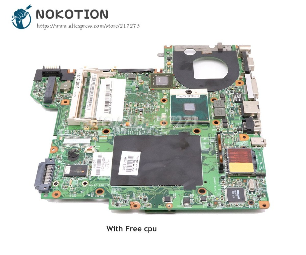 NOKOTION For Hp Pavilion DV2500 DV2700 Laptop Motherboard PM965 DDR2 8400M Free CPU 460716-001 448596-001 la 5971p for lenovo g455 laptop motherboard hd 4250m ddr2 free cpu