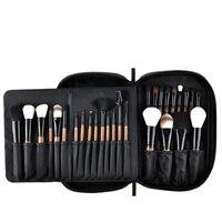 Msq Professional 28Pcs Makeup Brushes Set Pro Powder Blusher Foundation Eye Shadow Make Up Brushes Cosmetics Brush Kit With Pu