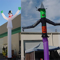 Happy inflatable 4m Business Promotion Inflatable Air Dancer Sky Dancers Advertising Inflatables Party Events