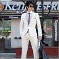 Pure white wedding photography 2017 trajes de hombre cultiva su moralidad y el novio de la boda vestido de Dos piezas