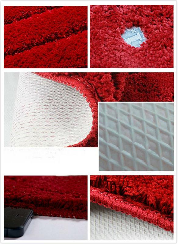 NiceRug tapis de salle de bain antidérapant rouge foncé microfibre tapis de salon tapis de sol/tampons pour la décoration de la porte de plancher de cuisine - 6