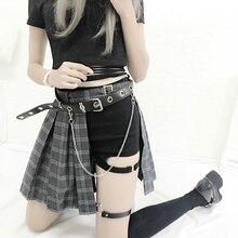 Harajuku Punk Style Plaid Irregular Skirts Women Asymmetrical High Waist  Pleated Girls Gothic Half Fashion Skirt