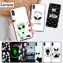 Lavaza Alien Believe UFO ET cute Silicone Case for iPhone 5 5S 6 6S Plus 7 8 11 Pro X XS Max XR