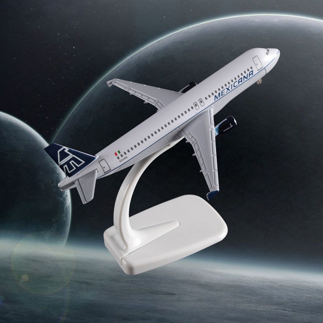 16cm A320 Mexico Airplane Model Aeronautical Mexicana Airbus Airways A320 Metal Aircraft Scale Model Creative Gift Handcraft Toy