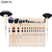 ZOREYA Makeup Brush Set 16pcs Premium Make Up Brushes Powder Foundation Fan Eyeshadow Blending brush 2019 New