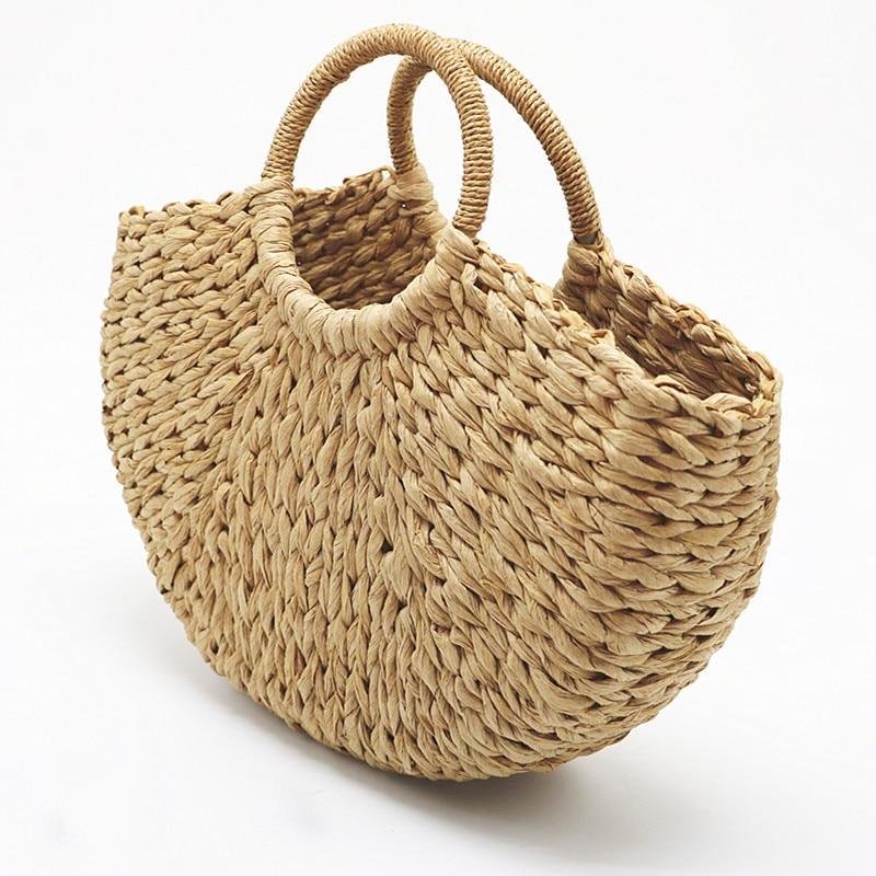 HTB1nlnIsGmWBuNjy1Xaq6xCbXXai - Beach Handmade Style Straw Handbag
