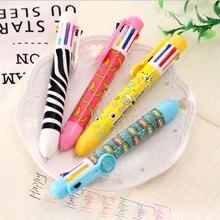 8-color ballpoint pen Cute Kawaii cartoon Ballpoint Pens Ballpen For Office School Writing Supplies Stationery Supplies
