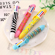 8-color ballpoint pen Cute Kawaii cartoon Ballpoint Pens Ballpen For Office School Writing Supplies Stationery