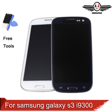 For samsung galaxy s3 i9300 lcd screen display touch screen digitizer replacement parts assembly +frame