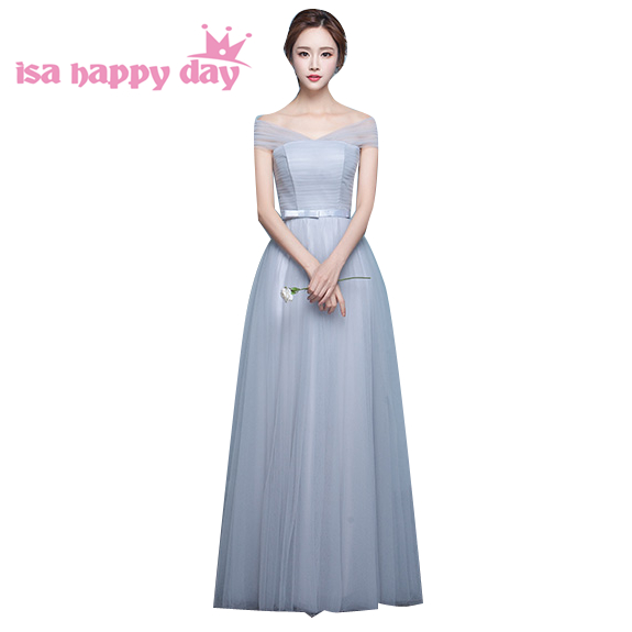 women events dramatic fall off shoulder bridesmaide dresses ...