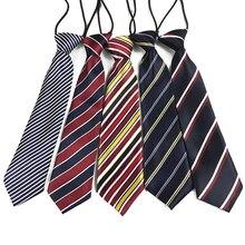 Новинка; полосатый Атласный Галстук в клетку; эластичный Школьный Галстук для мальчиков; Детские Свадебные вечерние аксессуары для галстуков; модный галстук