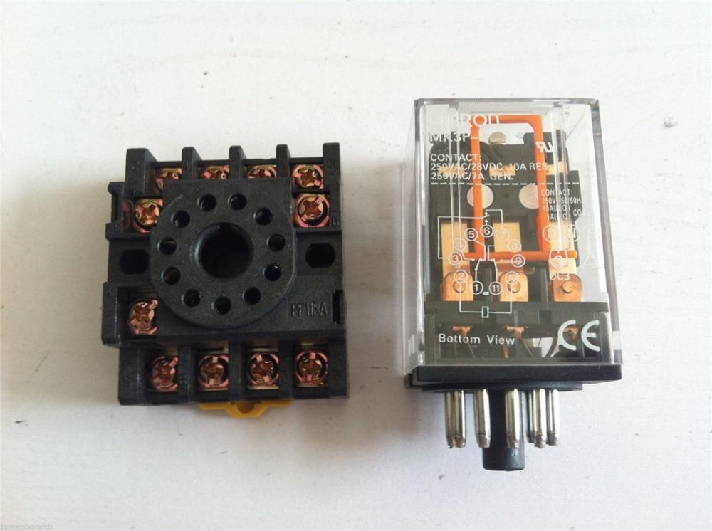 MK3P I DC 12V Relay 11 Pin 10A 250VAC With PF113A Socket