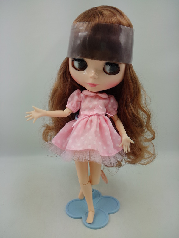 Beaukiss Blyth doll joint body Brown bangs long hair 12 fashion blyth doll DIY sweet 1/6 bjd doll for girls 18 45cm hard body bjd sd brown hair blue or brown eyes baby doll lifelike ball joint doll for baby girls
