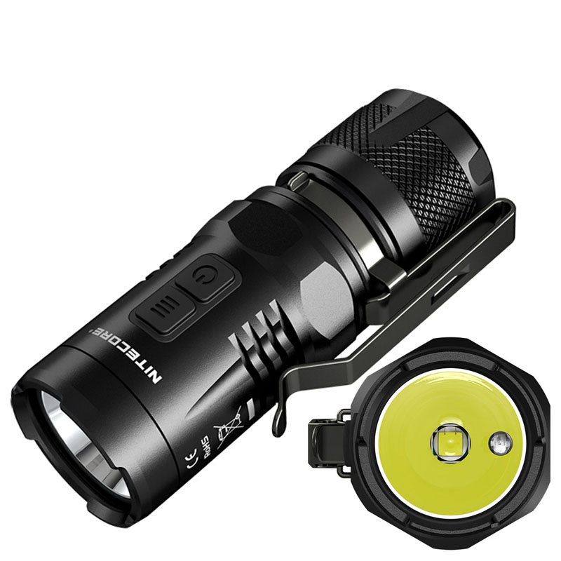 Mini NITECORE EC11 LED Flashlight CREE XM-L2 (U2) LED max. 900 lumens beam distance up to 190 Meters Waterproof Torch Flashlight flashlight nitecore ec20 cree xm l2 u2 led max 960 lumen beam distance 222 meter torch 18650 3500mah battery new i2 charger