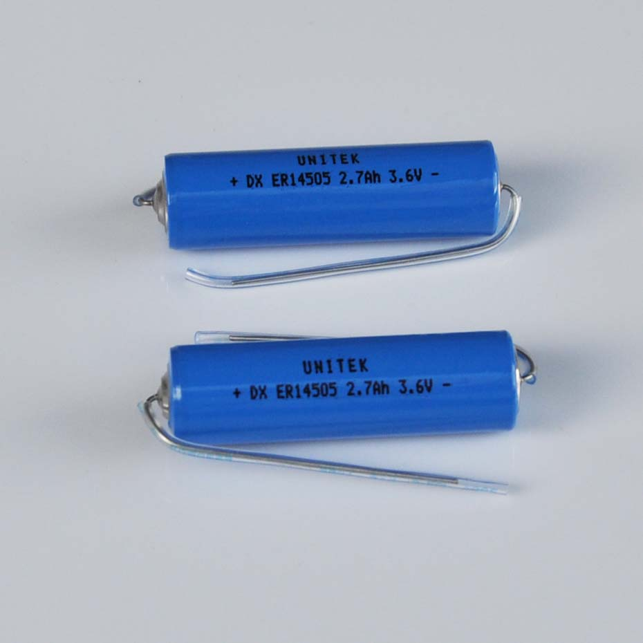 Aguja de soldadura de celda primaria de litio, 10 Uds., ER14505, 3,6 V, Tamaño AA, liSOCL2, 14505, 2700mah, para SAFT LS14500, Tadiran TL-5903